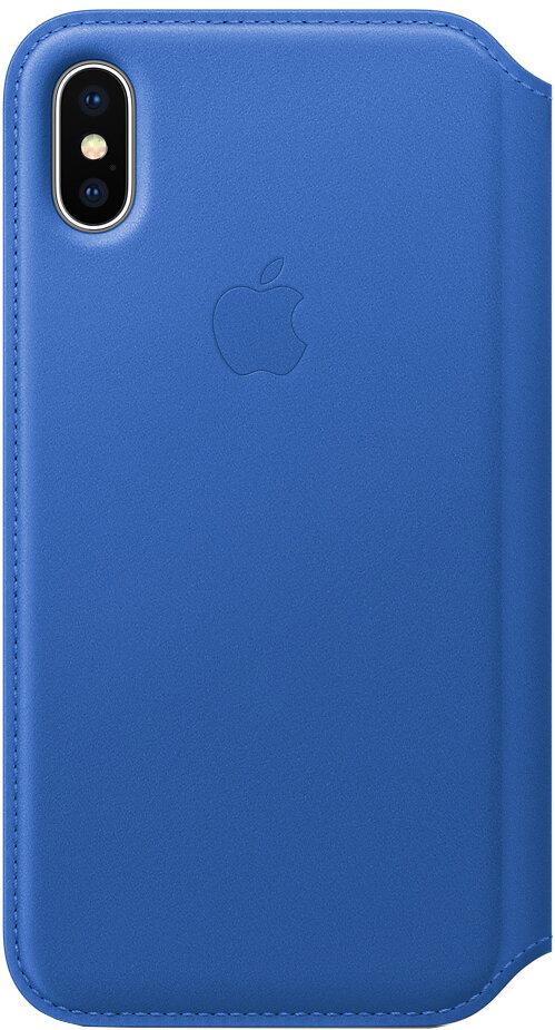 Apple Leather Folio для iPhone X (синий электрик)