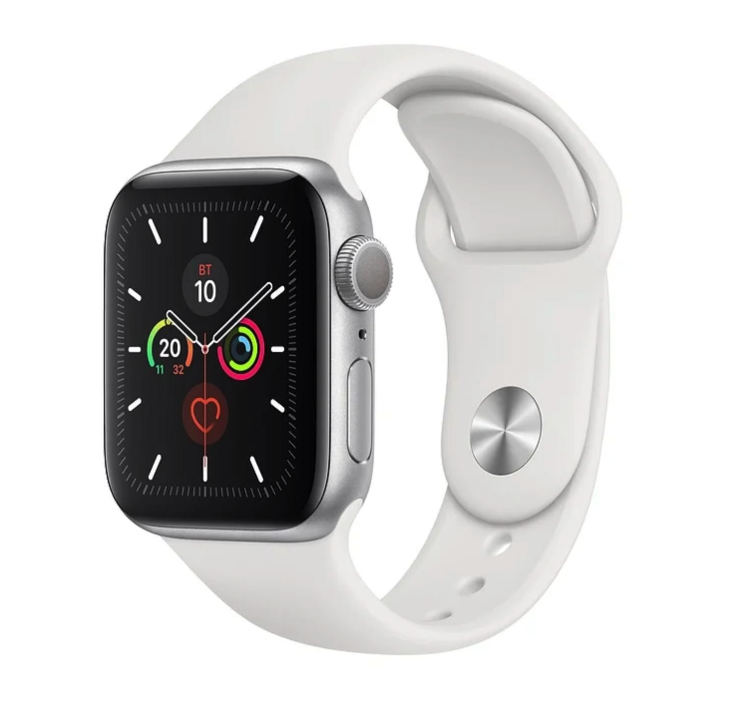 Часы Apple Watch Series 5 GPS 40mm Aluminum Case with Sport Band Silver (Серебристый/Белый)