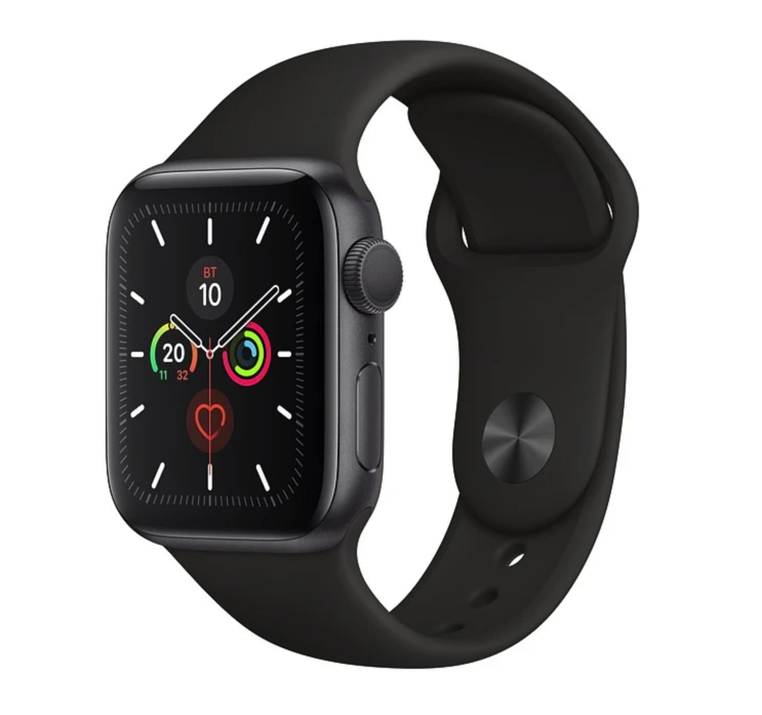 Часы Apple Watch Series 5 GPS 44mm Aluminum Case with Sport Band Space Grey (серый космос/черный)