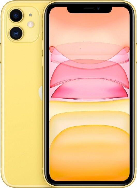 Смартфон Apple iPhone 11 128Gb Yellow (желтый) MWM42RU/A РОСТЕСТ