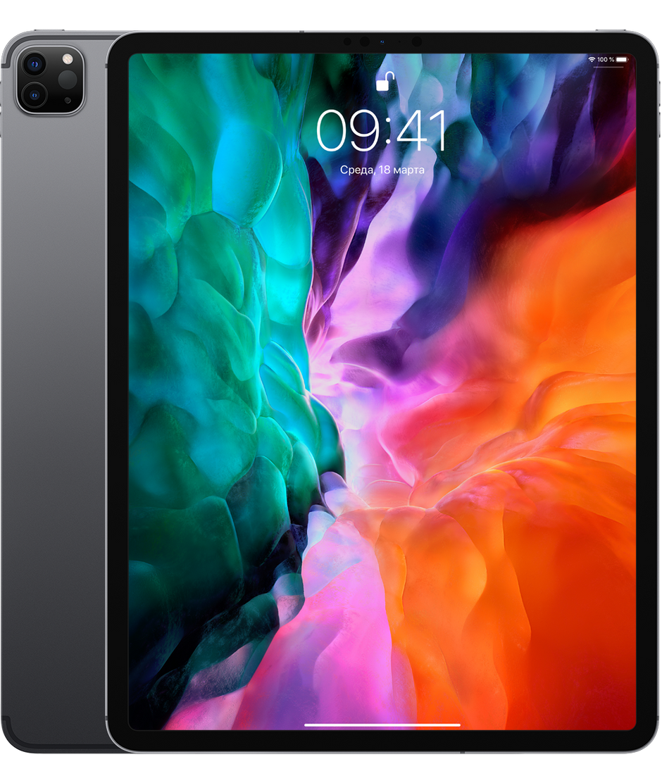 Планшет Apple iPad Pro 12.9 (2020) 128GB Wi-Fi + Cellular Space Gray (серый космос)