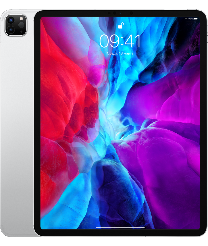Планшет Apple iPad Pro 12.9 (2020) 1TB Wi-Fi Silver (серебристый) MXAX2RU/A