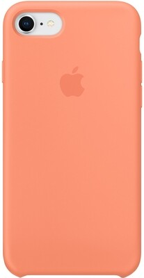 Apple Silicone Case для iPhone 8/7 (сочный персик)