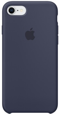 Apple Silicone Case для iPhone 7/8 (темно-синий)