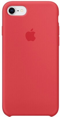 Apple Silicone Case для iPhone 8/7 (красная малина)