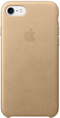 Apple для iPhone 7/8 кожаный (миндальный)