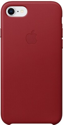 Apple Leather Case для iPhone 7/8 (красный)