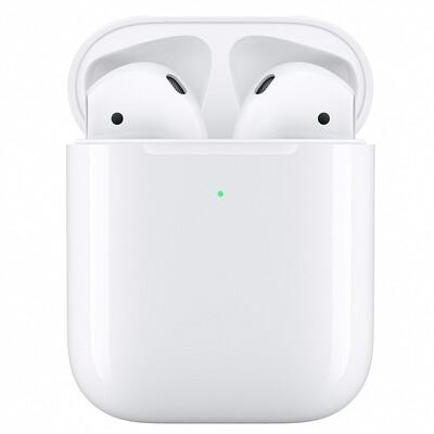 Наушники Apple AirPods 2 (с беспроводным зарядным футляром) MRXJ2