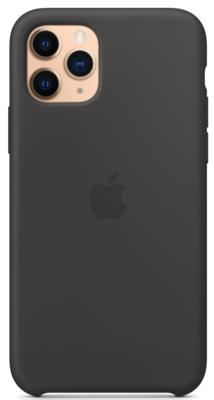 Силиконовый чехол для iPhone 11 Pro, чёрный цвет