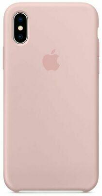 Чехол Apple iPhone X Silicone Case Pink Sand (розовый песок)