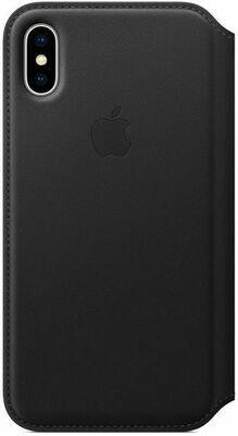 Apple Leather Folio для iPhone X (черный)