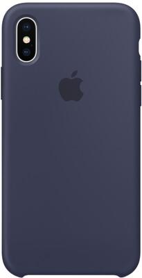 Чехол Apple iPhone X Silicone Case Midnight Blue (темно-синий)