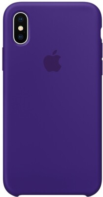 Чехол Apple iPhone X Silicone Case Ultraviolet (ультрафиолет)