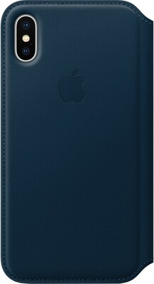 Apple Leather Folio для iPhone X (космический синий)
