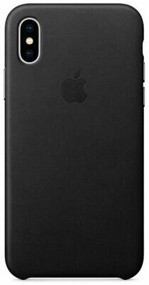 Apple Leather Case для iPhone X (черный)