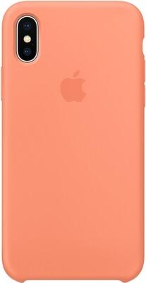 Чехол Apple iPhone X Silicone Case (сочный персик)
