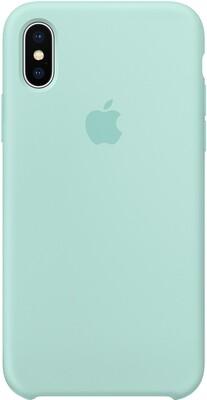 Чехол Apple iPhone X Silicone Case (зелёная лагуна)