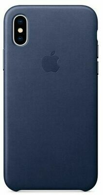 Apple Leather Case для iPhone X (темно-синий)