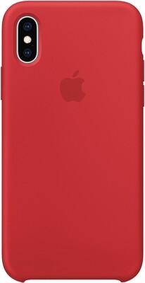 Чехол Apple iPhone XS Silicone Case (красный)