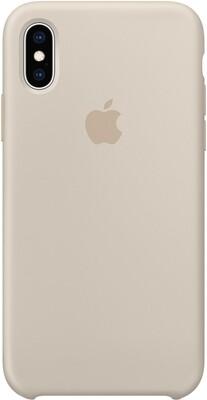 Чехол Apple iPhone XS Silicone Case (бежевый)