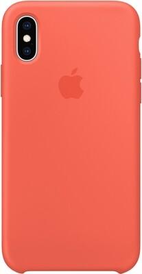 Чехол Apple iPhone XS Silicone Case (спелый нектарин)