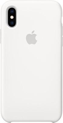 Чехол Apple iPhone XS Silicone Case (белый)