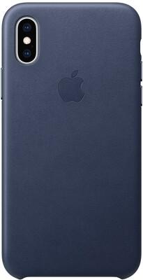 Apple Leather для iPhone XS (темно-синий)