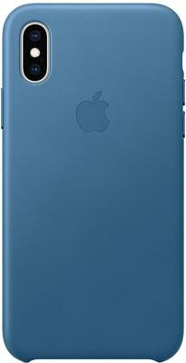 Apple Leather для iPhone XS (лазурная волна)