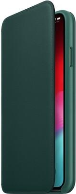 Apple Folio для iPhone XS (зеленый лес)