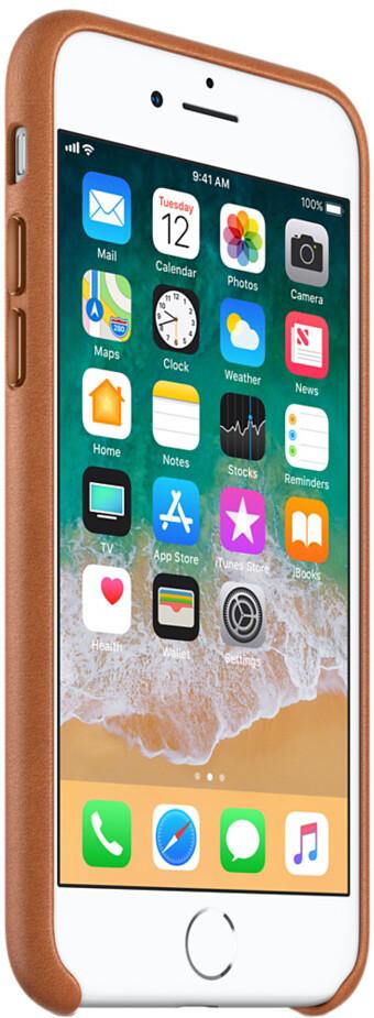 Apple Leather Case для iPhone 7/8 Plus (золотисто-коричневый)