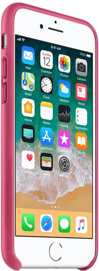 Apple Leather Case для iPhone 7/8 Plus (розовая фуксия)
