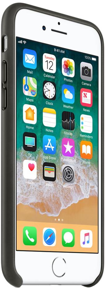 Apple Leather Case для iPhone 7/8 Plus (угольно-серый)