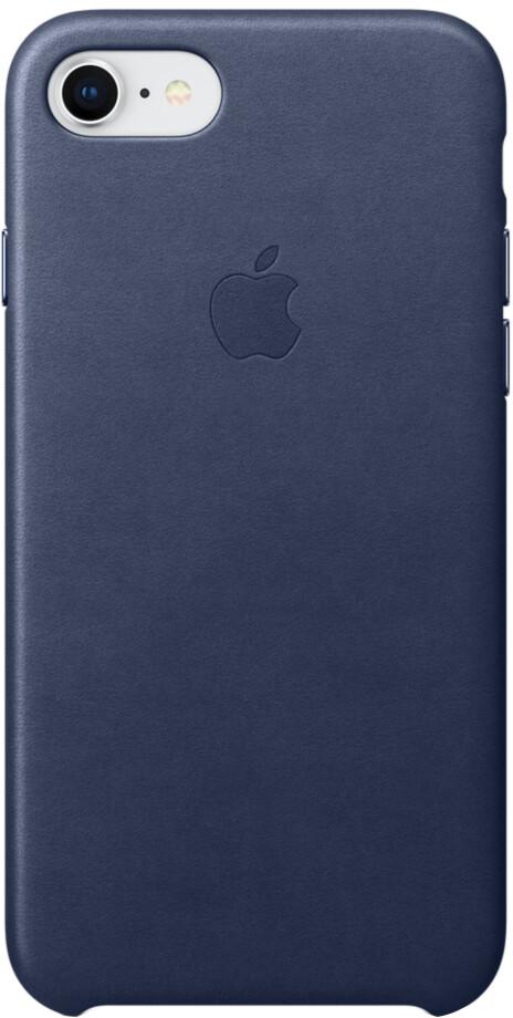 Apple Leather Case для iPhone 7/8 (темно-синий)