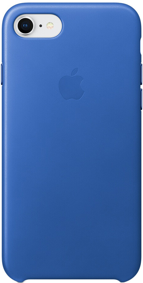 Apple Leather Case для iPhone 8 Plus/7 Plus (синий электрик)