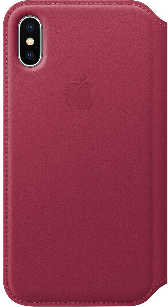 Apple Leather Folio для iPhone X (лесная ягода)