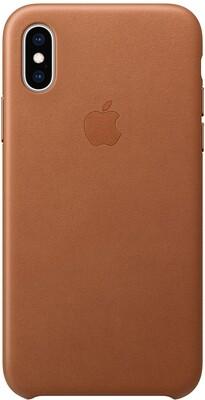 Apple Leather для iPhone XS (золотисто-коричневый)