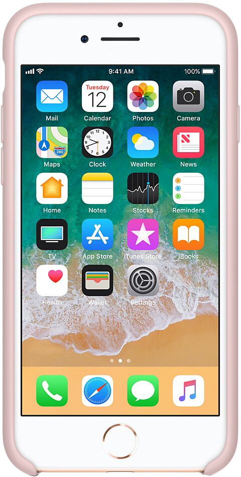 Apple Silicone Case для iPhone 7/8 (розовый песок)