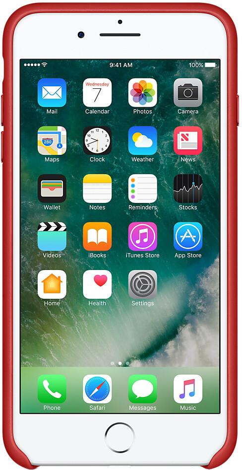 Apple для iPhone 7 Plus/8 Plus кожаный (красный)