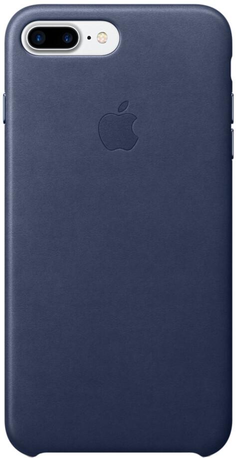 Apple для iPhone 7 Plus/8 Plus кожаный (темно-синий)