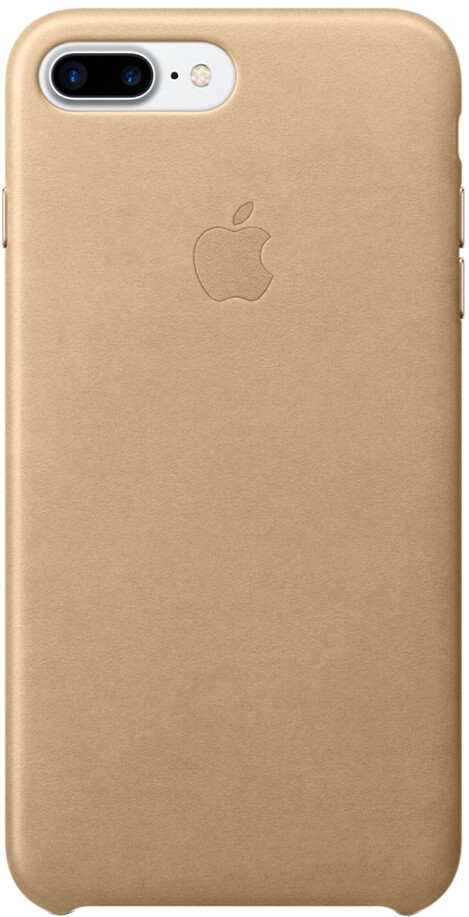 Apple для iPhone 7 Plus/8 Plus кожаный (миндальный)