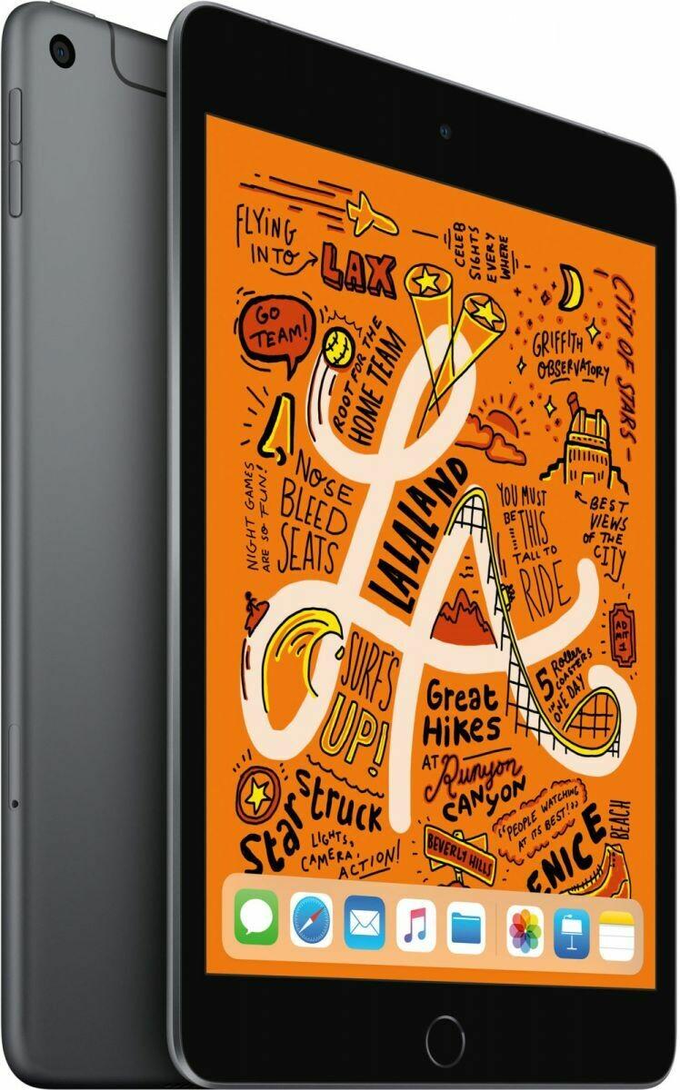 Планшет Apple iPad Mini (2019) 64GB Wi-Fi + Cellular Space Gray (серый космос) MUX52RU/A РОСТЕСТ