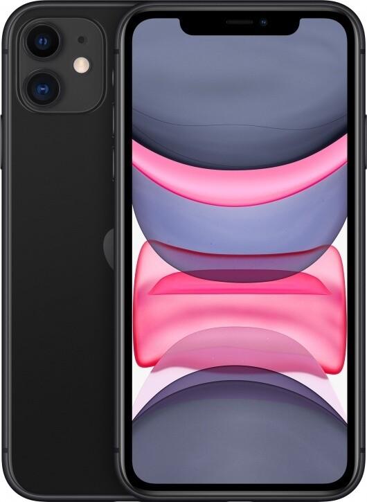 Смартфон Apple iPhone 11 64Gb Black (черный) MWLT2RU/A РОСТЕСТ