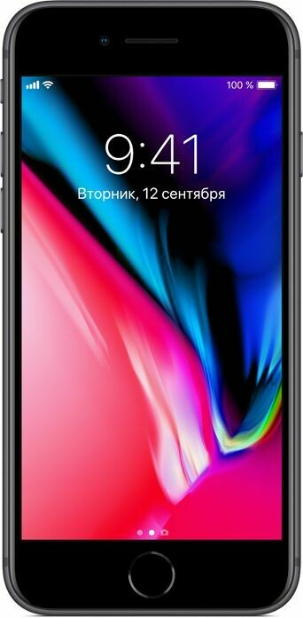 Смартфон Apple iPhone 8 Plus 128GB Space Gray (серый космос) MX242RU/A РОСТЕСТ