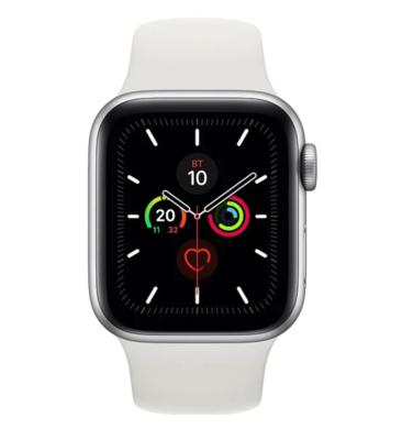 Часы Apple Watch Series 5 GPS 44mm Aluminum Case with Sport Band Silver (Серебристый/Белый)
