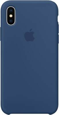 Чехол Apple iPhone X Silicone Case Dark Cobalt (темный кобальт)