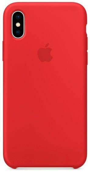 Чехол Apple iPhone X Silicone Case Red (красный)