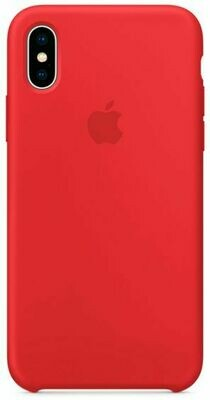 Чехол Apple iPhone X Silicone Case Red (красный)