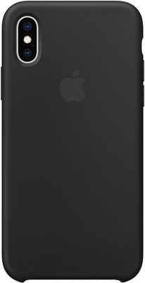 Чехол Apple iPhone XS Silicone Case (черный)