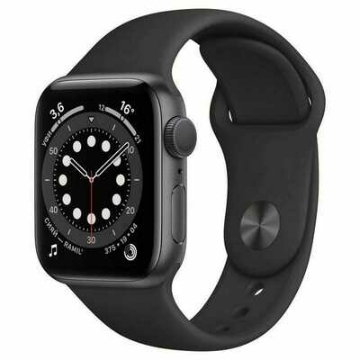 Умные часы Apple Watch Series 6 GPS 44mm Aluminum Case with Sport Band Black
