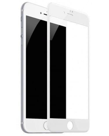 Защитное стекло 5D на 6/7/8+ белый